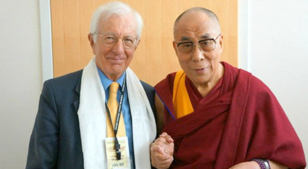 Action for Happiness founder Richard Layard and the patron of the organization, the Dalai Lama.