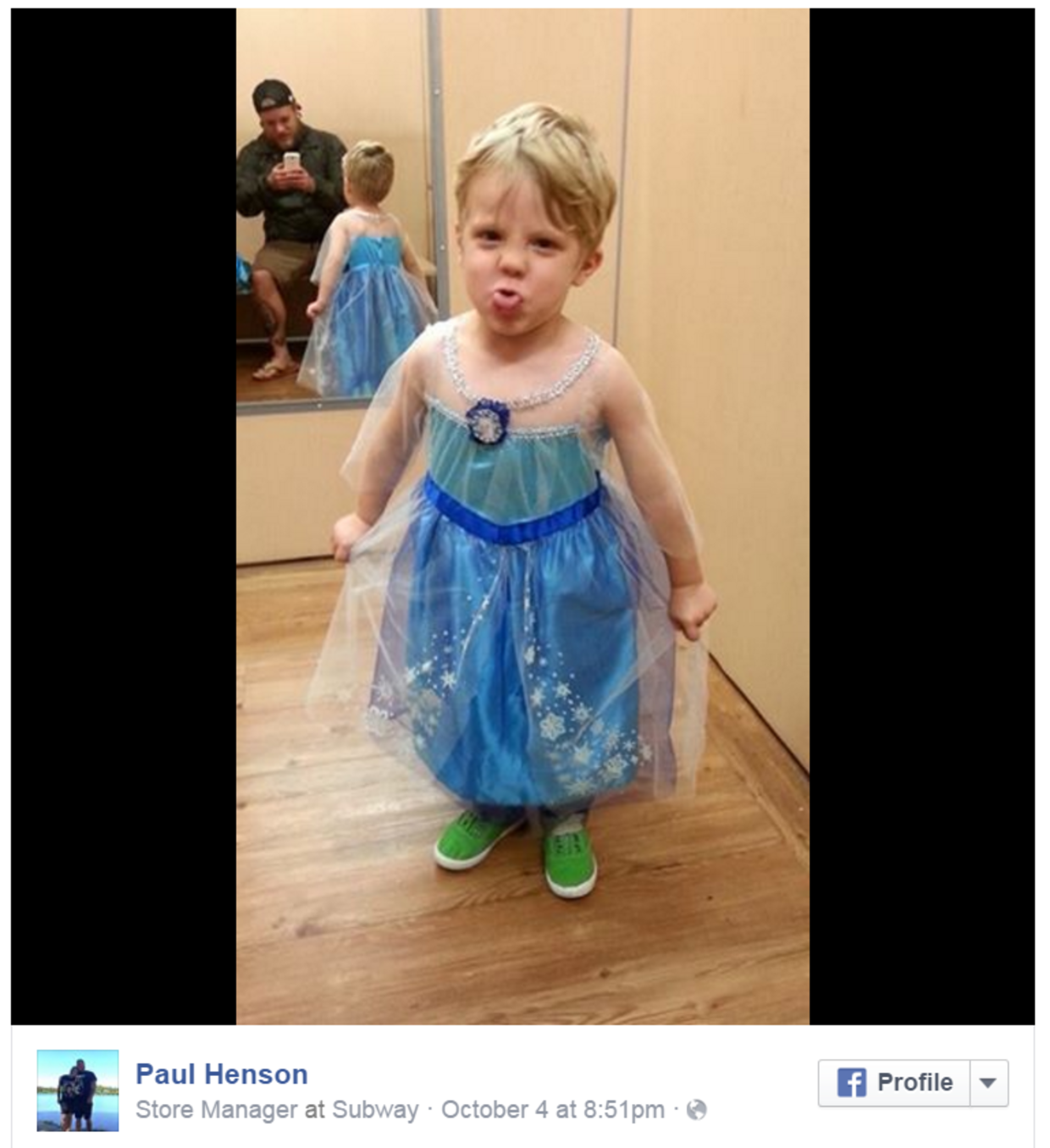 Boy princess costume