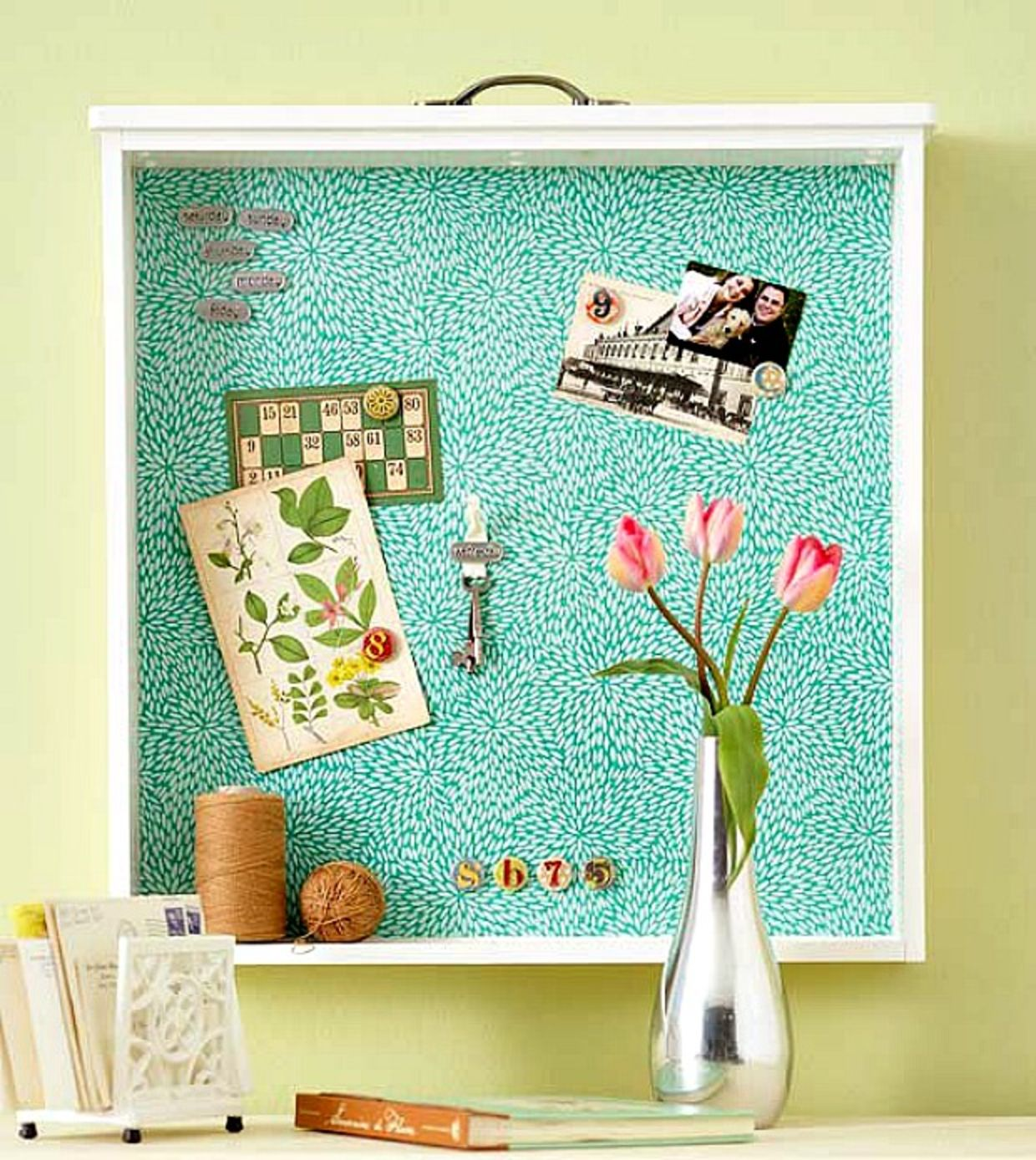 how to make a bulletin board wall