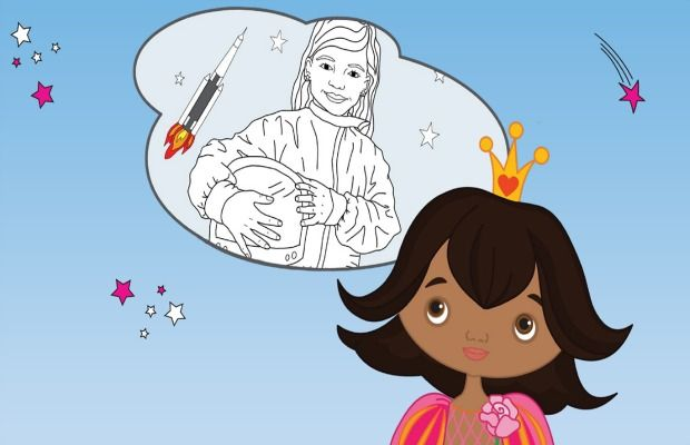 Dream big! More than a princess coloring book cover