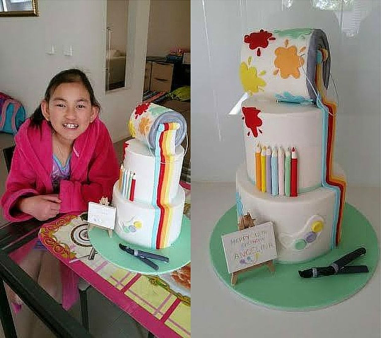 Art-themed cake