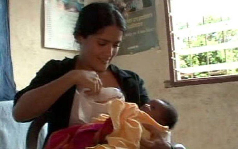 Selma hyeck breast feeding