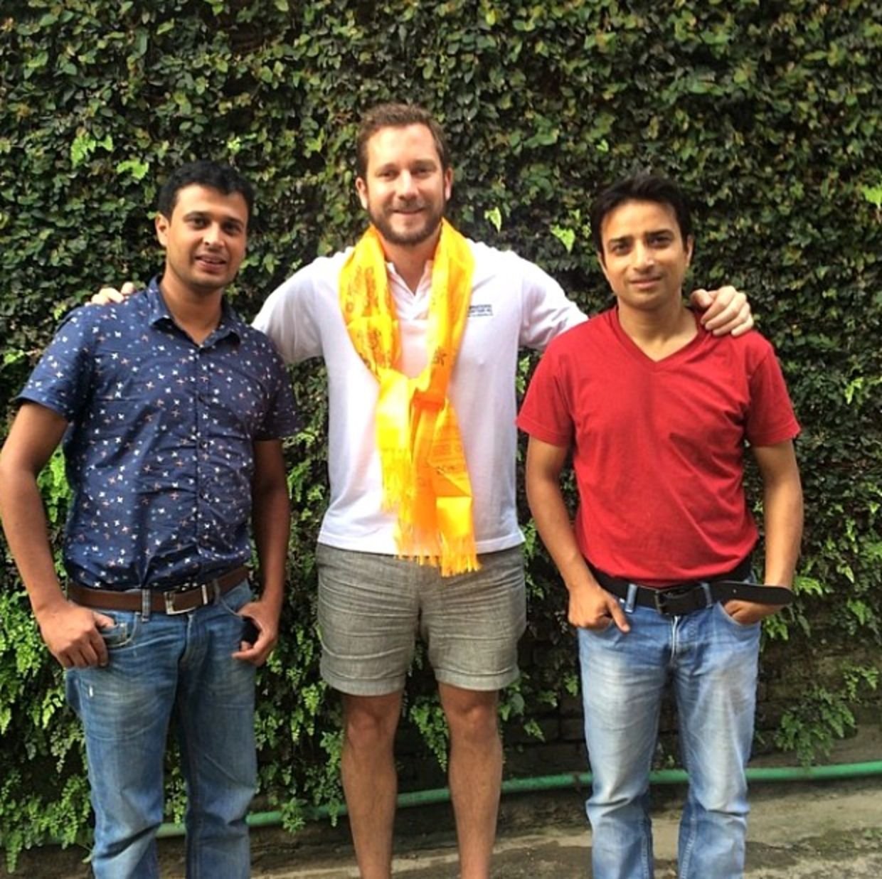 Dan Radcliffe with partners in Nepal