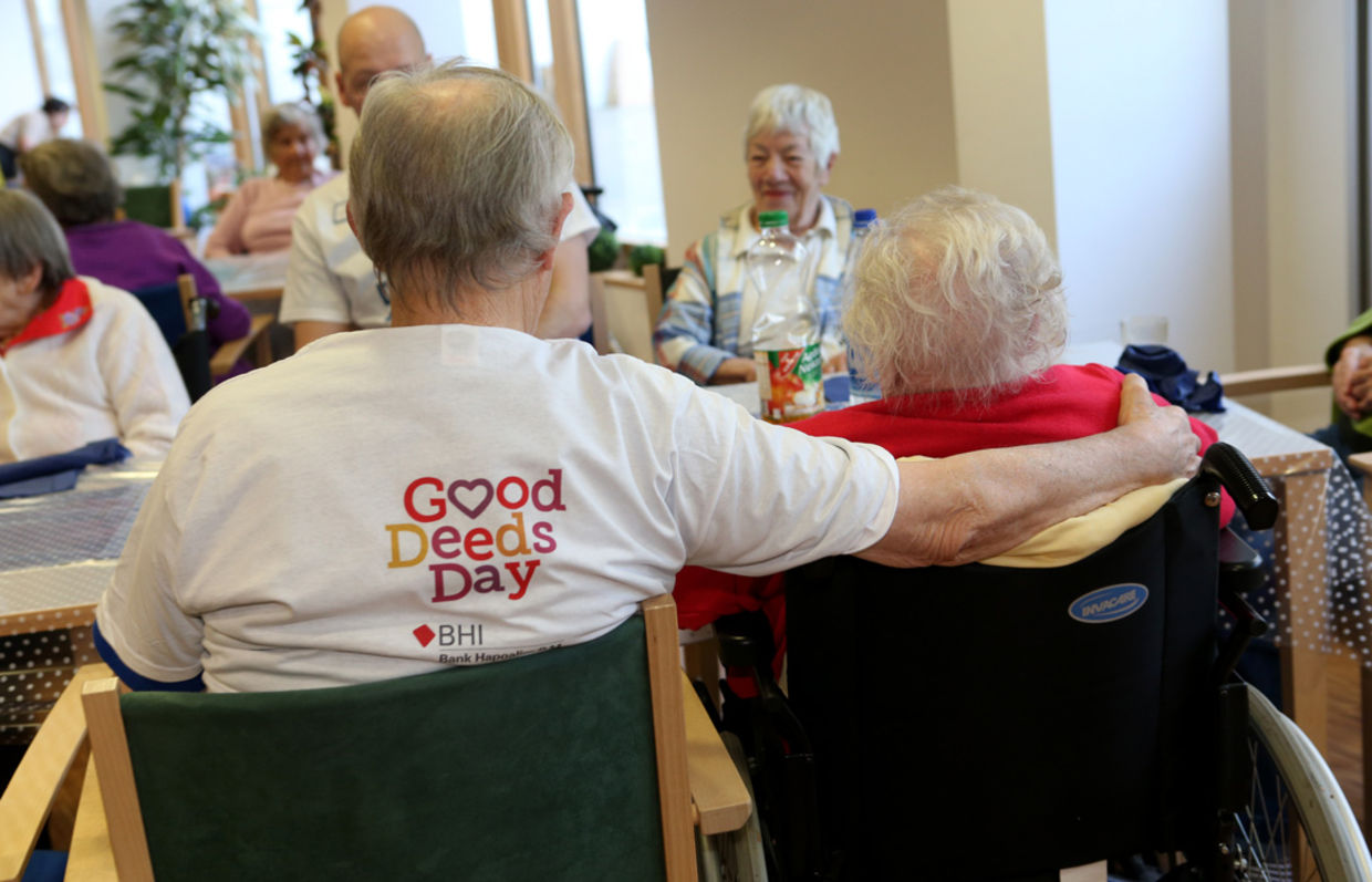Good deeds day visiting nursing home