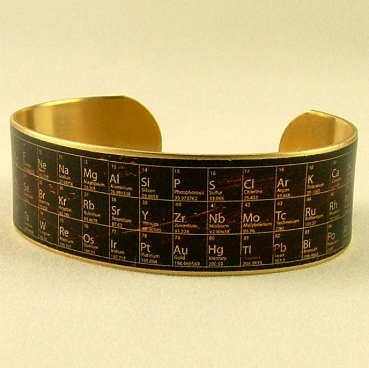 11 perfect accessories for math and science geeks goodnet periodic table bracelet gamestrikefo Image collections