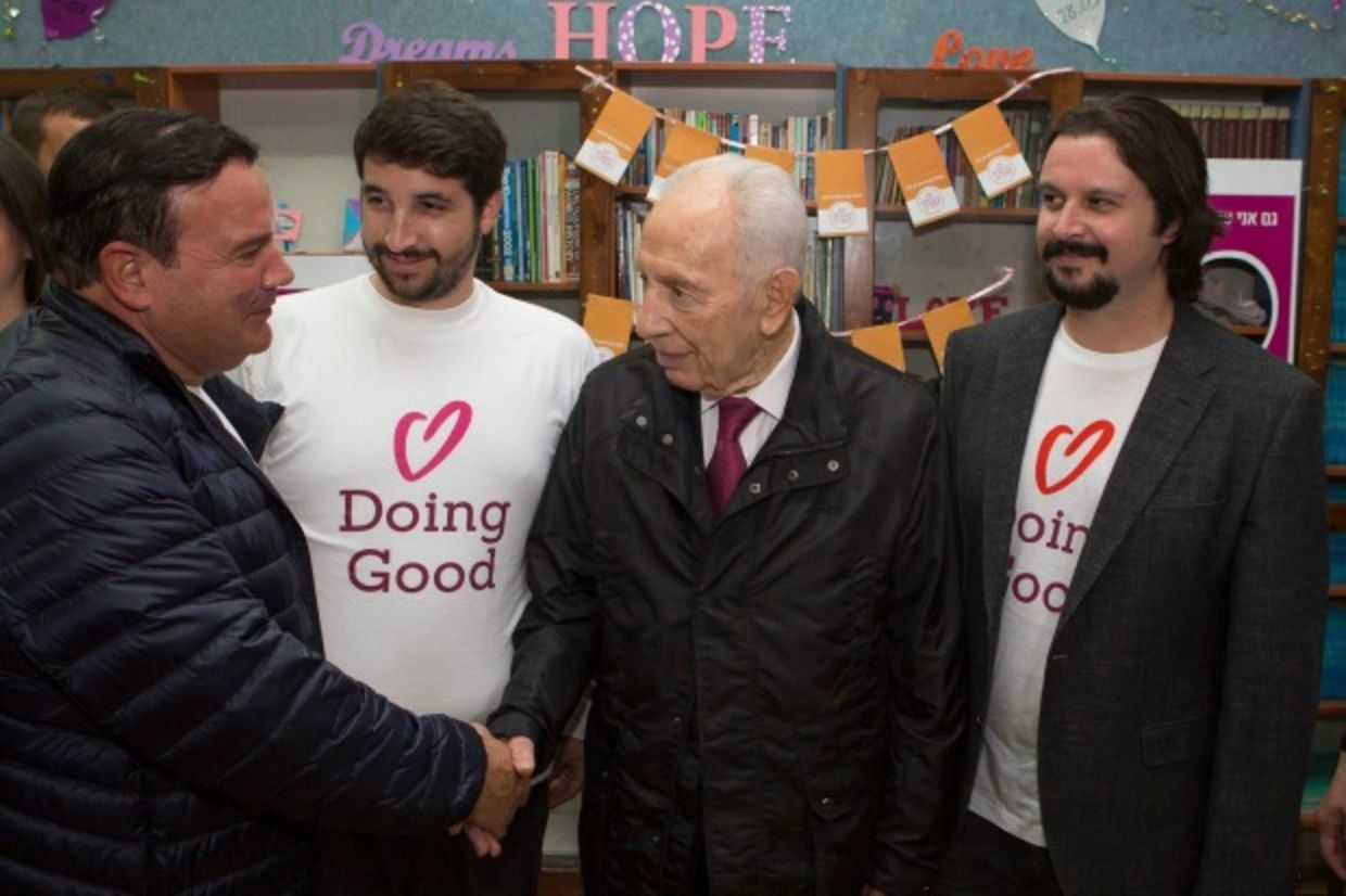 Shimon Peres on Good Deeds Day in Israel