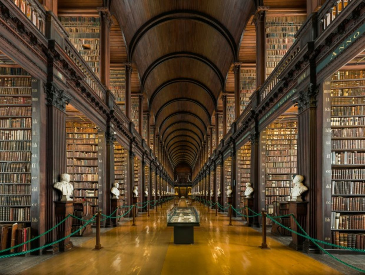 Trinity College Library in Dubling, Ireland