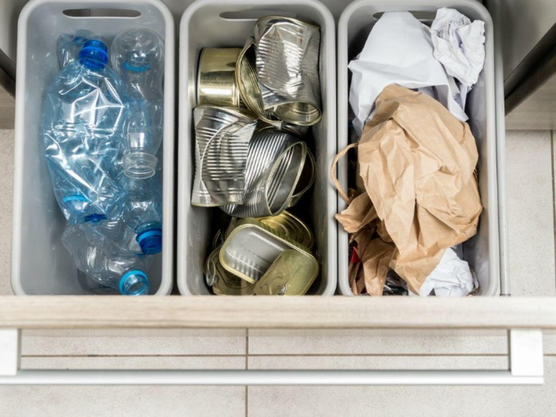 organized trash bin