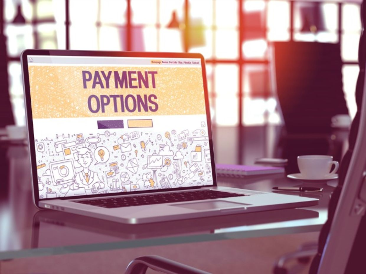 Payment options on computer