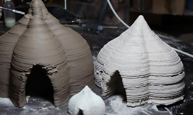 Clay prototypes show what the final full-size house could look like (Photo: WASP)