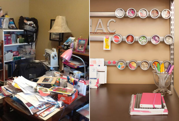 a messy desk can easily be transformed into home office heaven with a few magnetic strips declutter s72 declutter