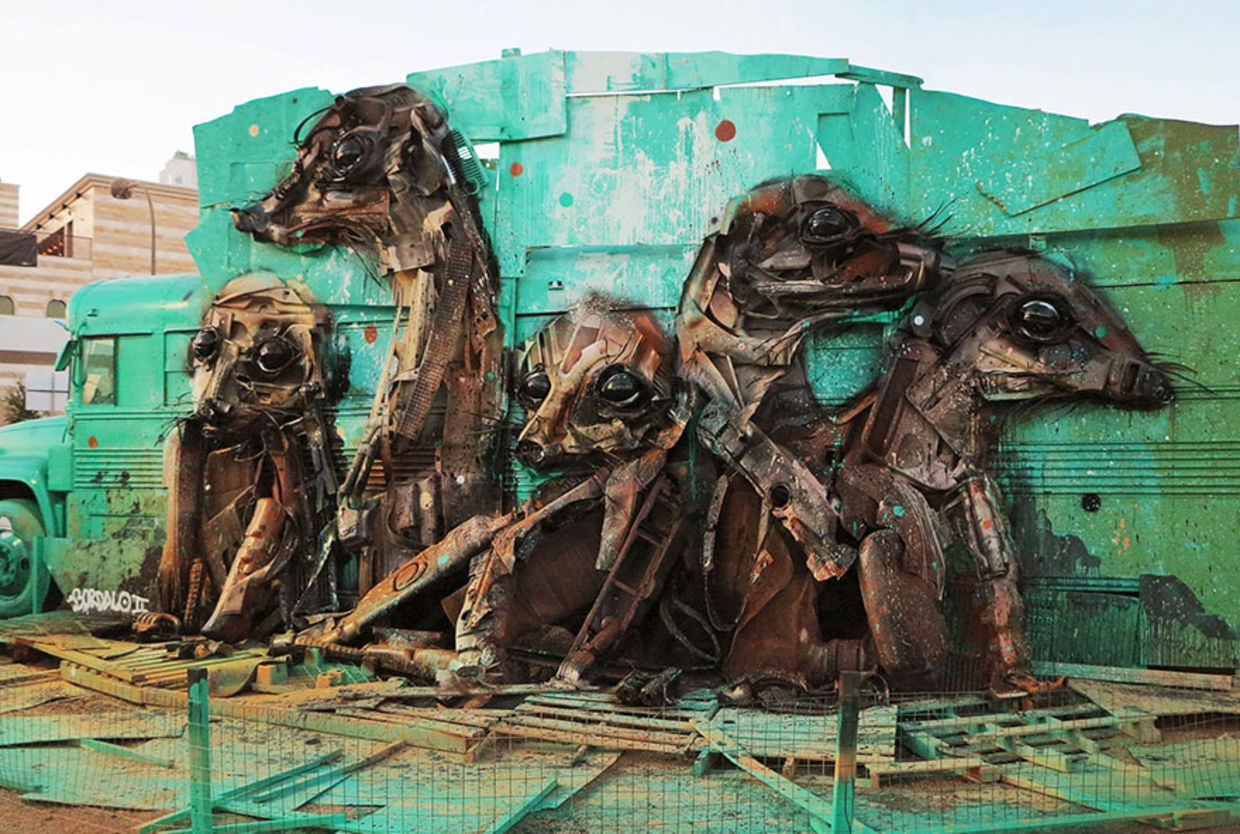Trash Animals is a series of artworks that aims to draw attention to pollution and its effect on the planet. (Bordalo II)