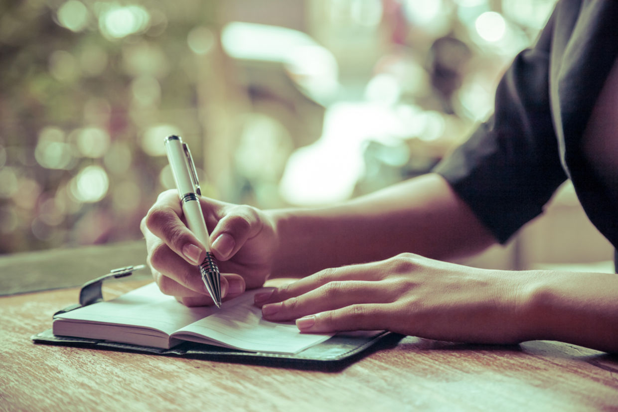 Writing down your thoughts helps you to improve your self awareness. (Shutterstock)