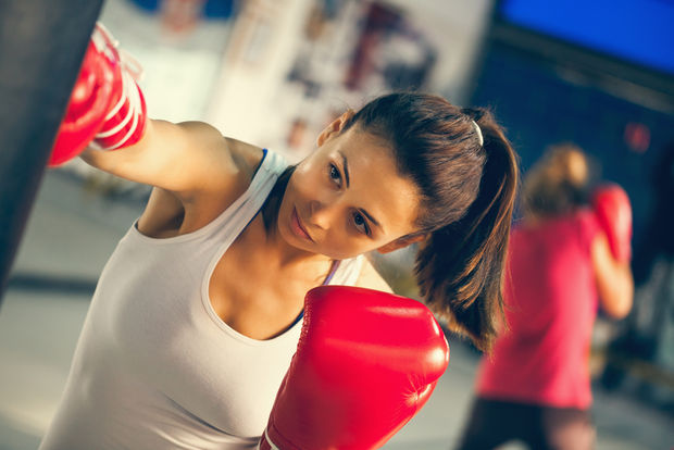 Boxing combines agility, cardio, and strength training and it's also known to be a great stress reliever. (Shutterstock)