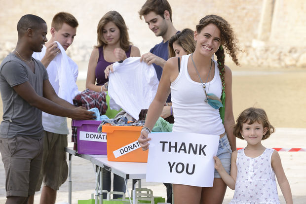 Organizing a clothes drive is a wonderful way to share our relative wealth with those less fortunate. (Shutterstock)