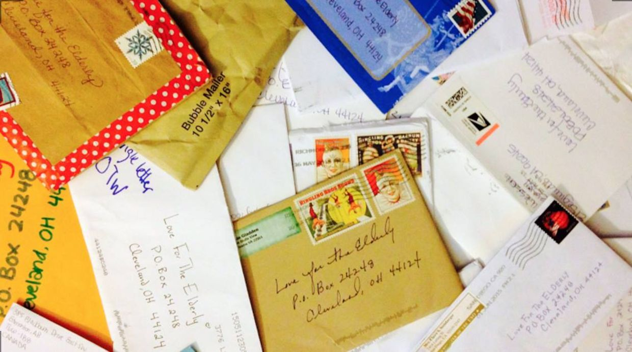 Hundreds of people sent letters to Love For The Elderly to spread some holiday cheer to lonely seniors. (Love For The Elderly)