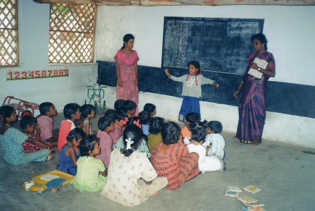 Children learn at the Indian Social Serviced Institute in Southern India. (ISSI)