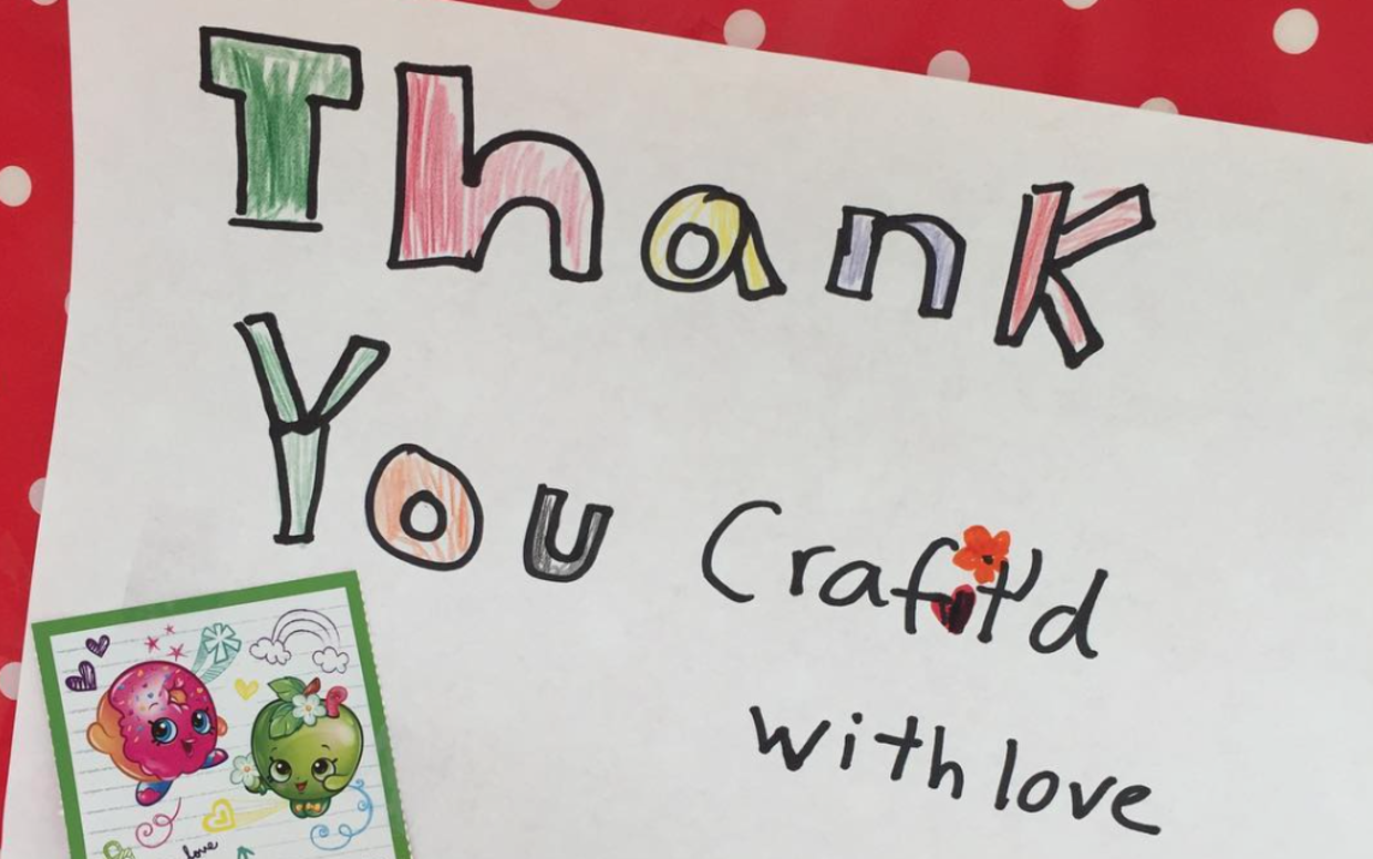 The Craft'd With Love team gets lots of love back from their thankful recipients. (Craft'd With Love)