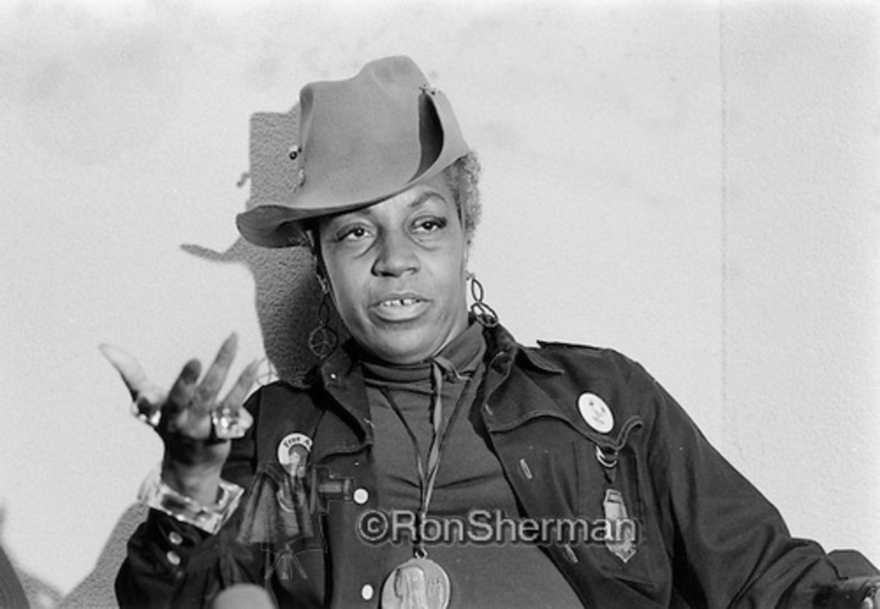 Florynce 'Flo' Kennedy with her trademark cowboy hat