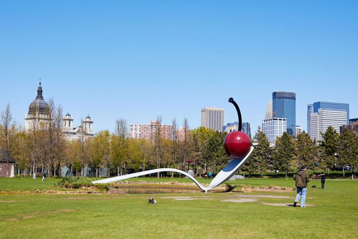 Minneapolis Sculpture giant spoon and cherry