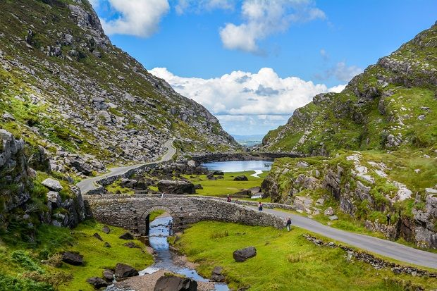 Scenic view of Gap of Dunloe, County Kerry, Ireland