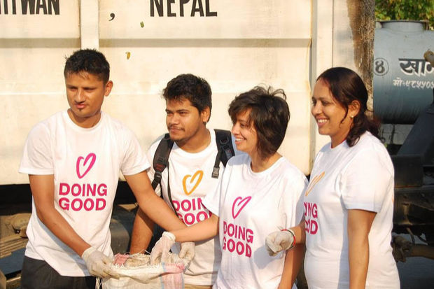 Volunteers participate in Good Deeds Day Nepal