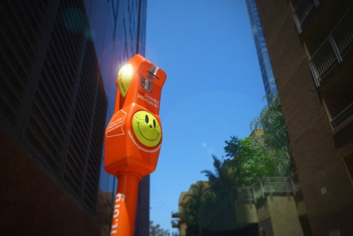 The meters will be brightly colored so that people don't mistake them for ordinary parking meters.