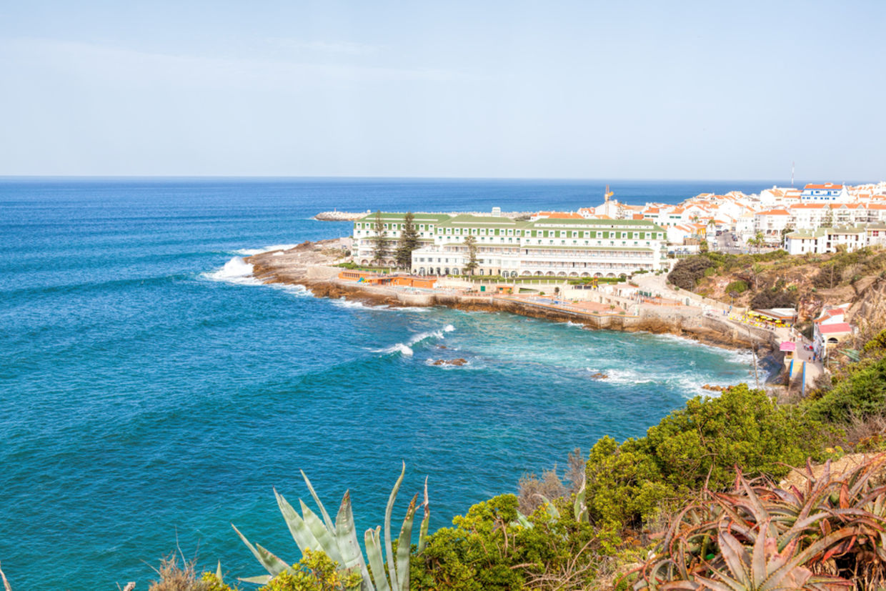 Portuguese Atlantic coast. Beach and rocks of Ericeira