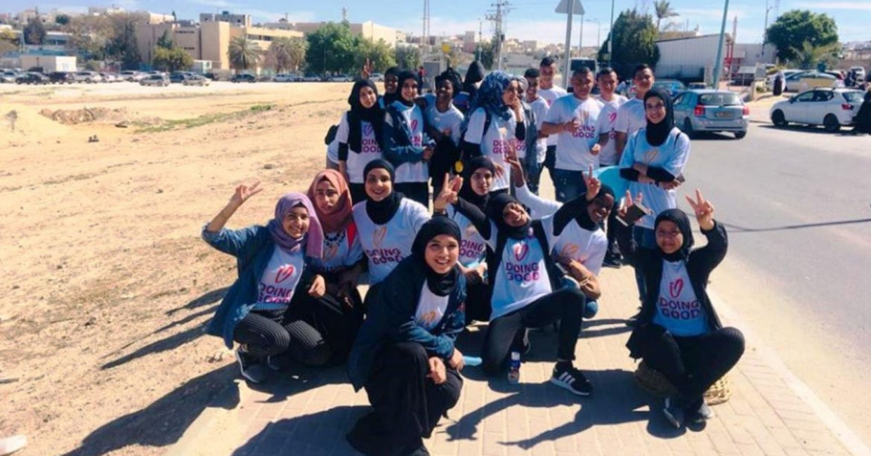 At-risk Bedouin kids from A New Dawn taking part in Good Deeds Day