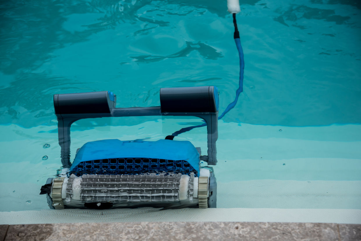 Dolphin home robot cleans your pool