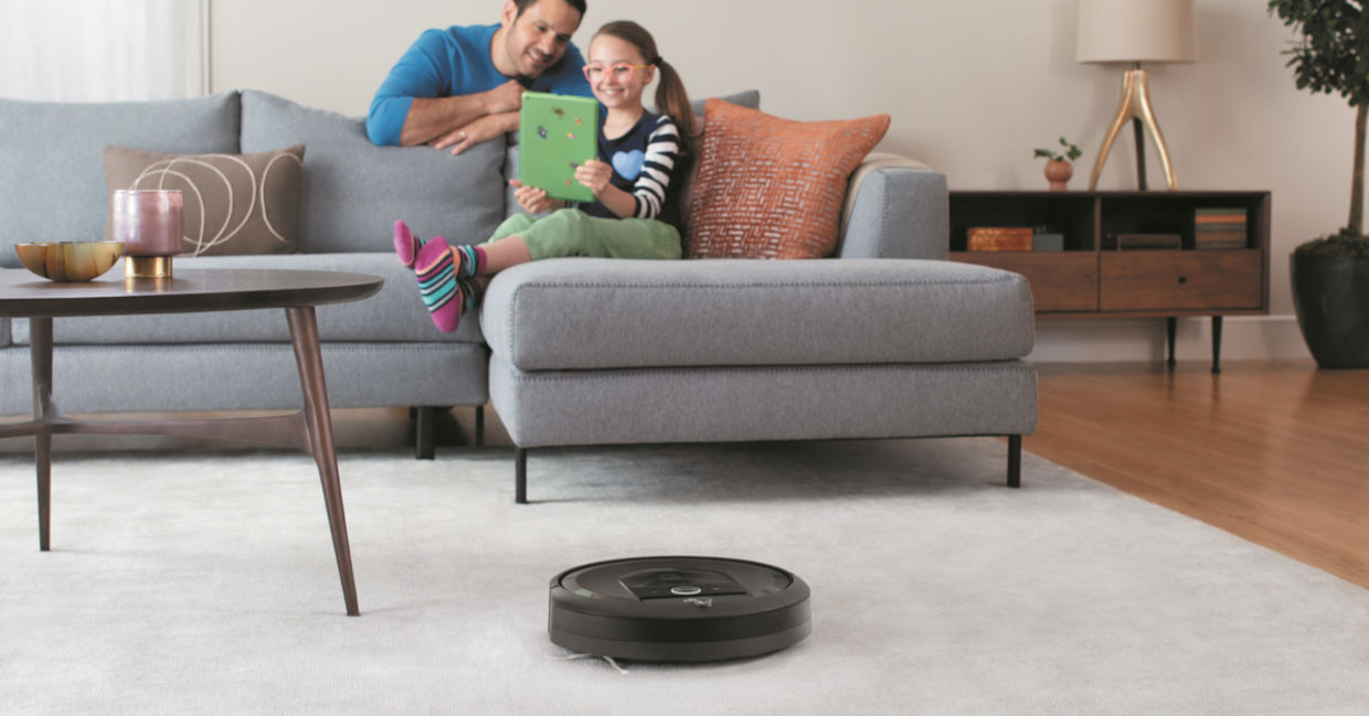 Roomba home robot cleaning your house