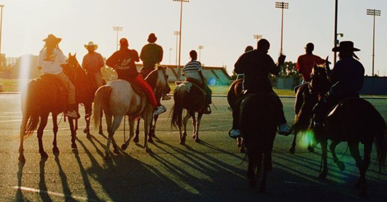 Compton Cowboys on their horses