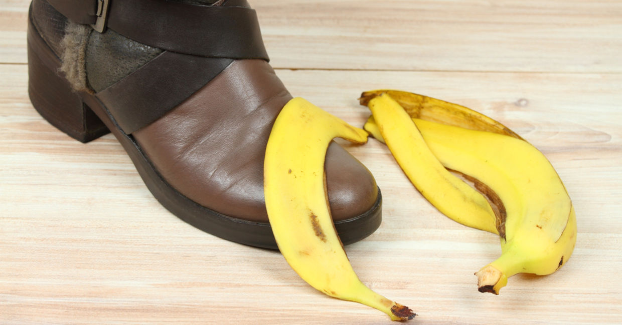 A good banana peel use is rubbing it on a shoe