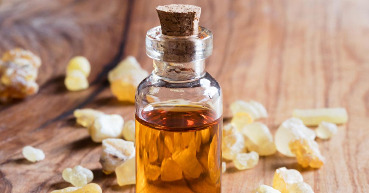 For pain relief, use frankincense essential oils.
